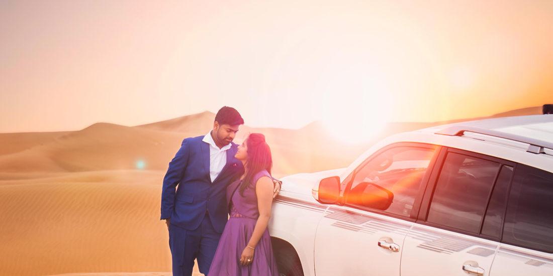 Post wedding photography in dubai desert - Vshoot